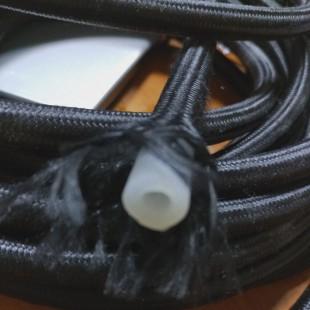 Паровой шланг силиконовый RIC006 в нитьевой оплётке